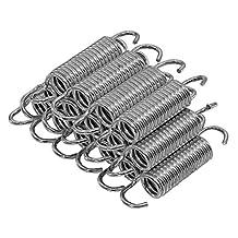 Upper Bounce Muelles de cama elástica, bobina de 3/10.2cm galvanizado resistente, juego de 15(Primavera Medidas de tamaño de gancho a gancho)