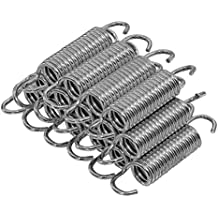 Upper Bounce Trampoline Springs, Heavy-Duty Galvanized, Set of 15 (spring size measures from hook to hook)