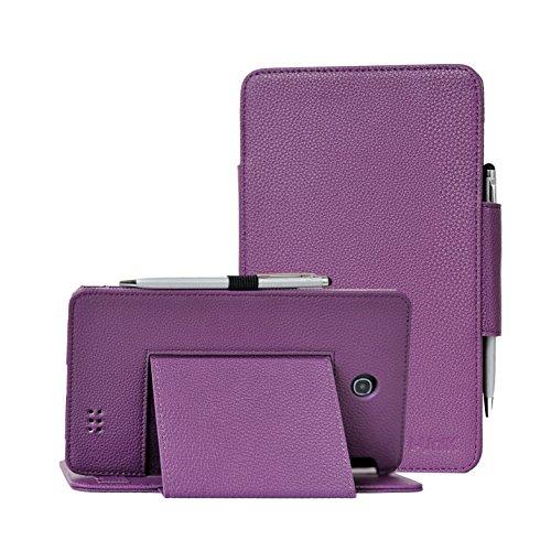 Camera In Case (i-UniK 2015 AT&T Trek HD 8 inch 4G LTE 9020A (Back Camera in the Middle) Tablet Case [Bonus Stylus] (Purple))