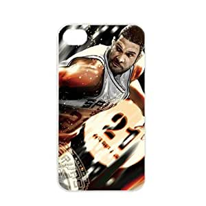 NBA San Antonio Spurs Tim Duncan Ginobili and Parker Case For HTC One M8 Cover PC Soft s for basketball Spurs fans (White)