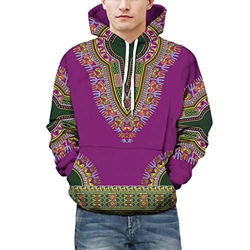 Top capucha Unisex Otoño Dashiki sudadera con africana capucha Invierno capucha africana Púrpura largas con con con capucha zarupeng sudadera 3D sudadera con mangas 1qSwxwP0