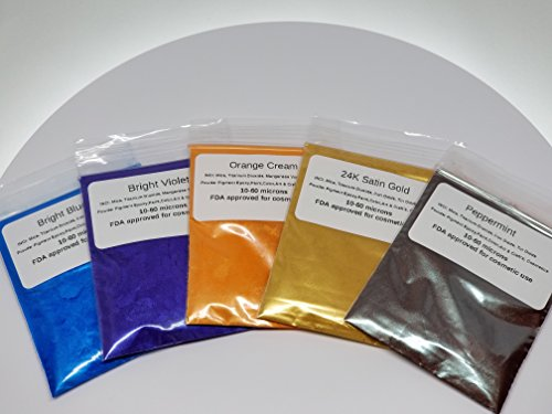 Epoxy Resin Art (2 Gram Bags 5 Colors Mineral Mica Powder Cosmetic Grade For Epoxy, Slime, Paint, Cosmetic, Nail Art, Resin Jewelry, Artist, Acrylic and other Craft Projects.)