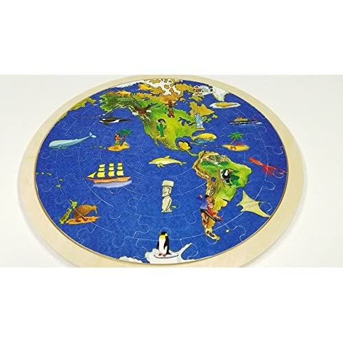 60off puzzle world map wooden childrens educational early 60off puzzle world map wooden childrens educational early childhood jigsaw wooden puzzle 57p gumiabroncs Images
