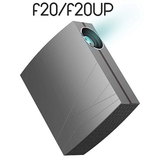 LMtt Proyector casero, F20 UP HD LCD proyector de Cine en casa ...