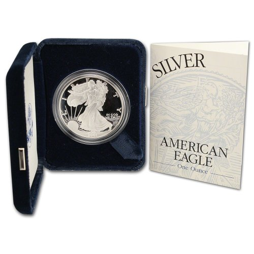 2001 W American Silver Eagle Proof $1 OGP U.S. - Silver American Proof Eagle Coin