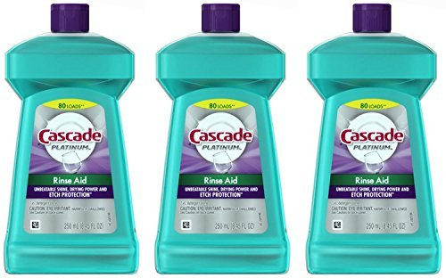 Cascade Rinse Aid Platinum, Dishwasher Rinse Agent, Regular Scent, 8.45 Ounce, (Pack of (China Cascade)