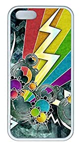 Rock Of The Rainbow - iPhone 5S Case Funny Lovely Best Cool Customize White Cover