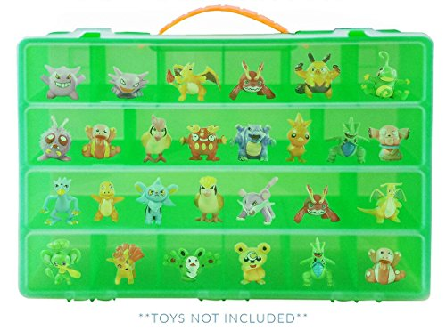 (Life Made Better Toy Storage Organizer, fits up to 40 figures (Compatible with Pokemon TM Action Figures) )