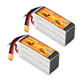 Floureon 2Packs 3S 2P 11.1V 8000mAh 40C Lipo Battery 5.31.721.95 inch for RC Quadcopter Airplane Helicopter Car Truck Boat Hobby (XT60 Plug)
