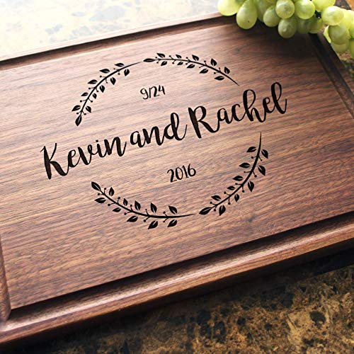 Personalized Cutting Board, Custom Keepsake, Engraved Serving Cheese Plate, Wedding, Anniversary, Engagement, Housewarming, Birthday, Corporate, Closing Gift #023