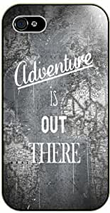 Adventure is out there - Vintage world globe, up - iPhone 4 / 4s black plastic case / Inspiration movie