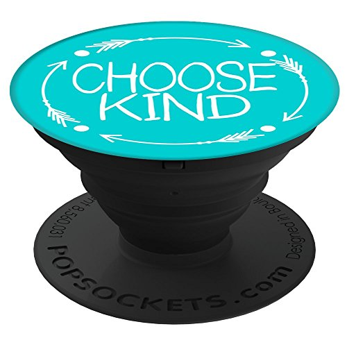 CocomoSoul-Mobile Choose Kind Anti Bullying Choose Kindess -Teacher Appreciation Gift - Last Day Of School Gift (Turquoise) PopSockets Stand for Smartphones and Tablets
