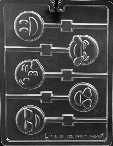 Emoji Lollipop Sucker Chocolate Mold Party Favors