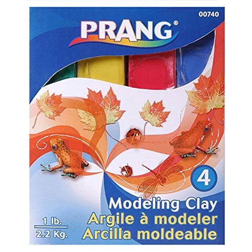 Prang DIX740BN Modeling Clay, Assorted, 1 lb. Per Pack, 6 Packs, Clay, Red/Green/Blue/Yellow (Pack of - Clay Prang Modeling