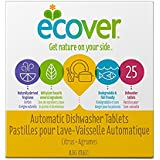 Ecover Naturally Derived Automatic Dishwashing Tablets, Citrus, 25 Count, 17.6 Ounce
