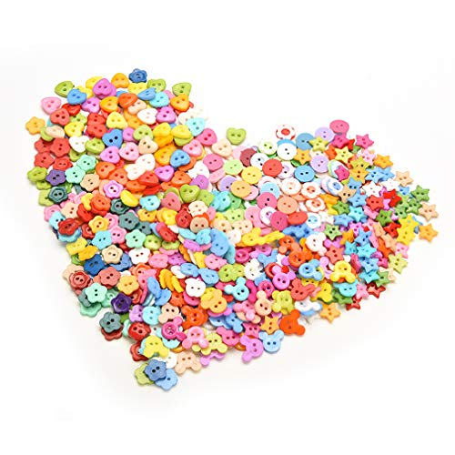 - Welecom 1000Pcs Flower Craft Buttons Favorite Findings Basic Button Christmas Mixed Colors Size Bulk Buttons,2 and 4 Holes Round Resin Sewing Scrapbook Buttons for DIY Art&Crafts Projects
