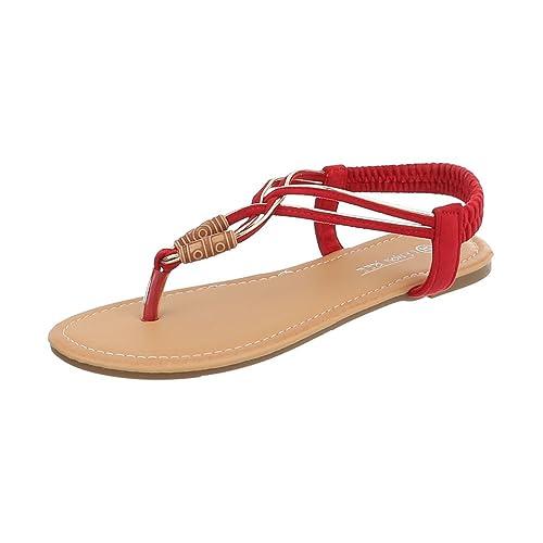 rosso 37 EU Scarpe da Donna Sandali Tacco a Blocco Infradito Taglia 37 13q
