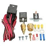 MATCC 185~200 Degree Engine Cooling Fan Thermostat Temperature Switch Sensor Relay Kit