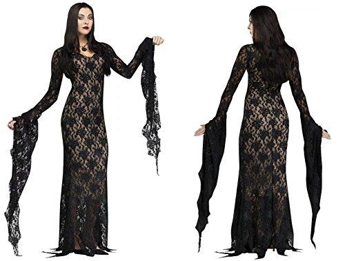 Adult Morticia Adams Miss Darkness Costume - Large (12-14) (Morticia Adams Costumes)