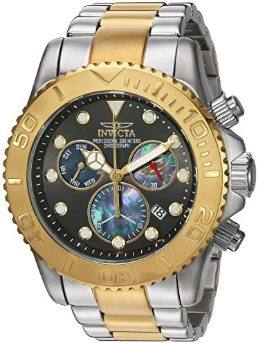 Invicta Men s Pro Diver Swiss-Quartz Watch with Stainless-Steel Strap, Two Tone, 26 Model 20347
