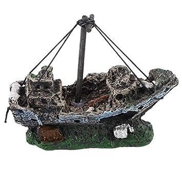 Silverxiel Pirate Ships In Aquariums Acuario Paisaje Decoración Accesorios para acuarios Pecera Acuario Adorno para Barcos de Resina: Amazon.es: Productos ...