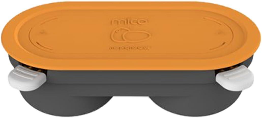 Morphy Richards MICO Escalfador de huevos de microondas, Silicona, Naranja