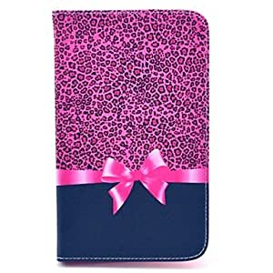 LIMME Leopard Bow Pattern Full Body Leather Case Cover with Stand for Samsung Tab 4 7.0 T230