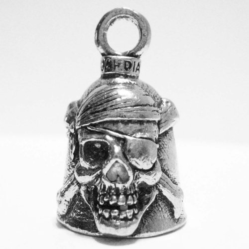 Guardian® Pirate Skull and Cross Bones Motorcycle Biker Luck Gremlin Riding Bell or Key -