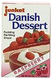 Junket Danish Dessert Raspberry, 4.75-Ounce (Pack of 12) by Junket