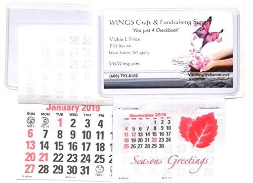 Business Card Stick Up Calendars 2019 Plus Nov Dec 2018 - Set of 3