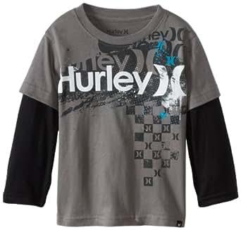 Hurley Little Boys' Chief Rocka Slider, Coal, 4T