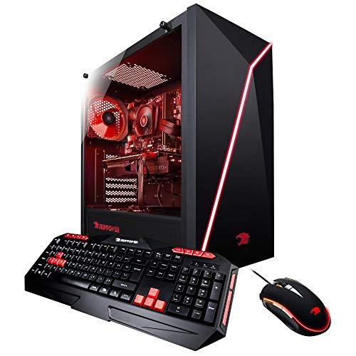 iBuyPower Pro Gaming PC Computer Desktop AMD Ryzen 7 2700X 3.7GHz, NVIDIA GeForce RTX 2070 8GB, 16GB DDR4 RAM, 1TB HDD, 240GB SSD, WiFi Ready, Win 10 Home, VR Ready (Slate 055A)