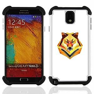 For Samsung Galaxy Note3 N9000 N9008V N9009 - Minimalist Polygon Wolf Dual Layer caso de Shell HUELGA Impacto pata de cabra con im??genes gr??ficas Steam - Funny Shop -