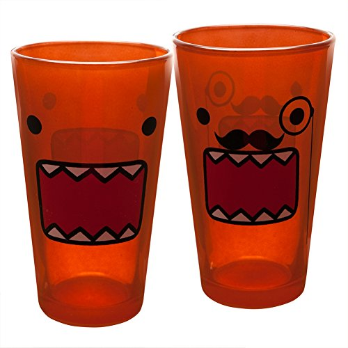 Domo - Mustache & Face Two Pack Pint Glass (Domo Glasses)