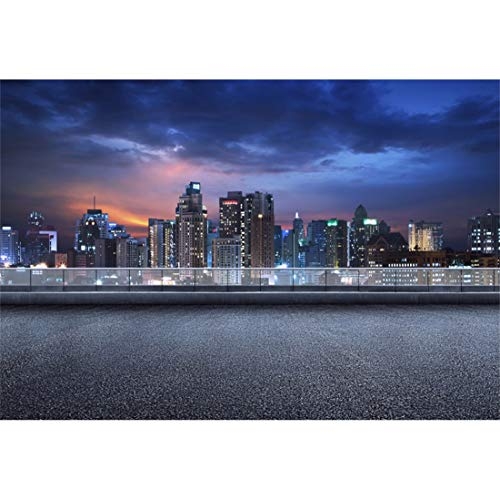 Yeele 8x6ft City Night Scene Photography Background Sunset Street Highway High-Rise Building Party Decoration Photo Backdrop Adults Portrait -