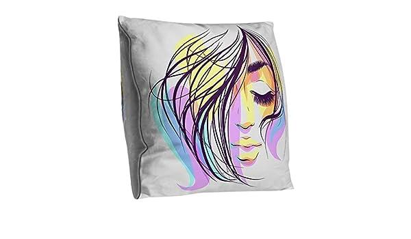 Funda de almohada decorativa de poliéster con diseño moderno de ...