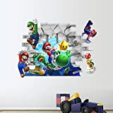 Dushang Super Mario Bro Wall Stickers Home Decor Vinyl Mural Art Wall Paper Stickers