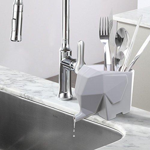 Merveilleux Abstract Gray Elephant Design Plastic Bathroom Toothbrush Holder / Kitchen  Utensil Drying Rack Jar