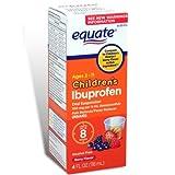 Equate Children's Ibuprofen Pain Reliever/Fever Reducer, Oral Suspension, Berry Flavor 4 Oz