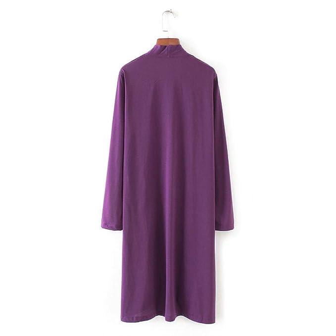 ❤ Cardigans Mujer Primavera otoño,Modaworld Cárdigan Kimono Estampado sólido Chal de Moda para Mujer Tops Cover Up Blusa Ropa de Playa Chaqueta Outwear ...
