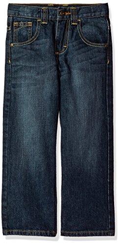 - Wrangler Authentics Boys' Relaxed Straight Jean, Mid Blue, 7