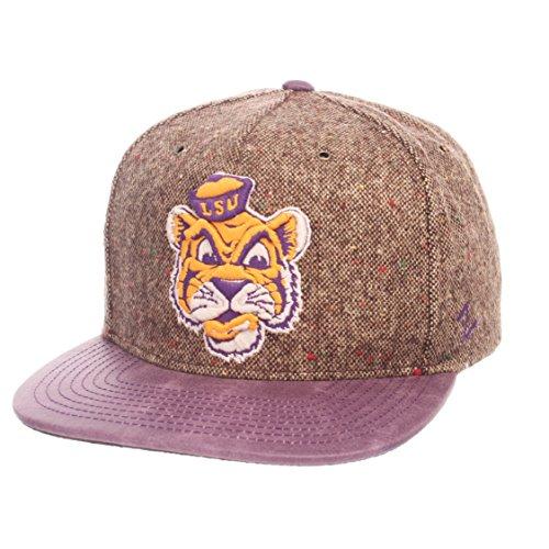 Zephyr NCAA LSU Tigers Adult Men Legend Heritage Collection Hat, Adjustable, Tweed