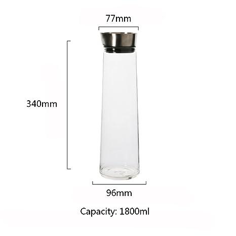Creativa transparente agua chill gran capacidad clara borosicate vidrio resistente al calor botella fría jarra de