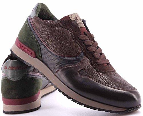 La Martina Zapatos Sneakers Hommes L2081211 Calf Delave TMORO Franz Dark Brown