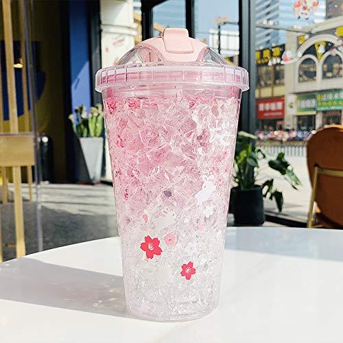 Scldream Tragbare Wasser Tasse koreanische Mode Kirschkaninchen Liebhaber kreative gebrochen Eisbecher für Männer und Frauen einfache tragbare, B-Modelle B07PKGNFWB   Schön und charmant