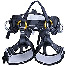 YXGOOD Climbing Harness, Treestand Harness, Roofers/Tree Working Safety Belt for Outdoor Tree Climbing Harness, Mountaineering Outward Band Expanding Training Caving Rock Climbing Rappelling Equip