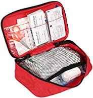 180 Piece First Aid Kits, Includes Sterile Gauze, Bandage, Scissors for Home, Car, Camping, Office, Boat, Spor