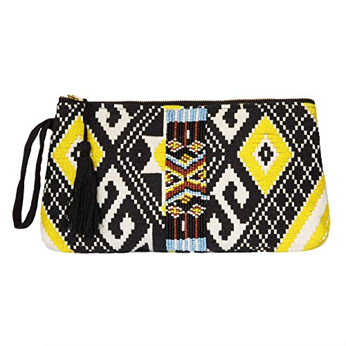 DwellStudio Vegan Clutch for Women -Boho Style Clutch, Wristlet, Purse, Woman's Hand Bag, Wallet, Beautiful Gift for…