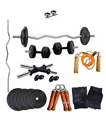 Aurion Combo Pack Home Gym and Fitness Kit (8 KG -30 KG)