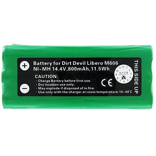 AccuCell - Batería compatible con batería Dirt Devil Libero M606 0606004 (800 mAh): Amazon.es: Electrónica